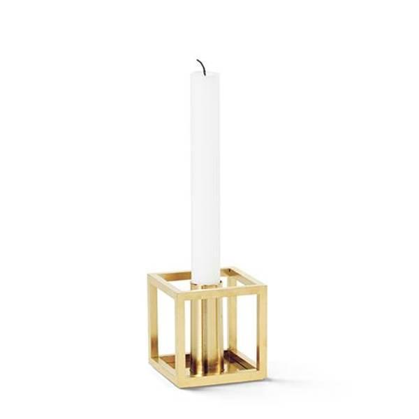 Bilde av By lassen kubus 1 candleholder, messing