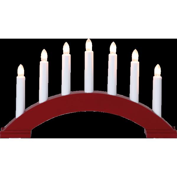 Bilde av Star bea candlestick, rød