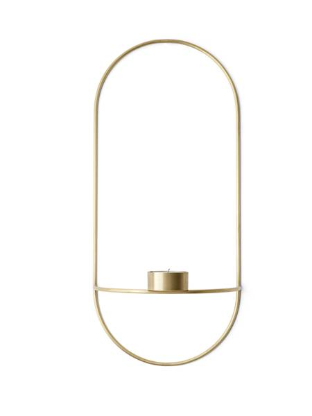 Bilde av Menu POV oval tealight candleholder, brass