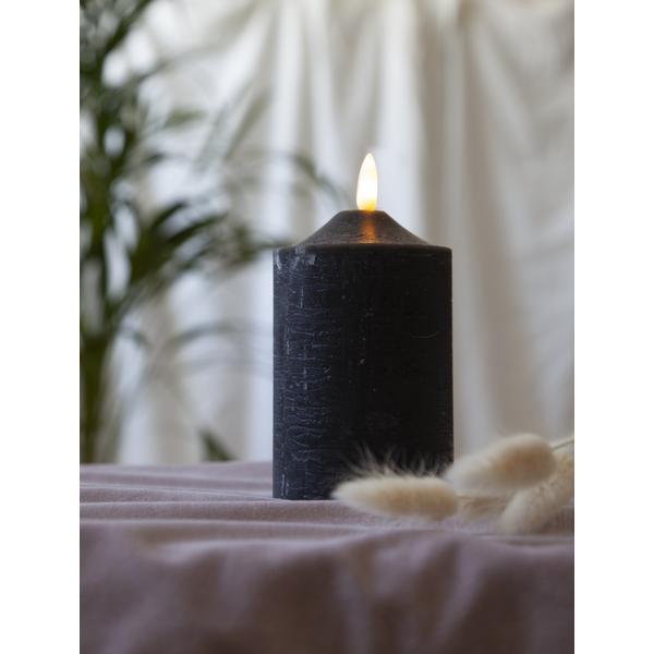 Bilde av Flamme Wax Candle Led 15 cm sort