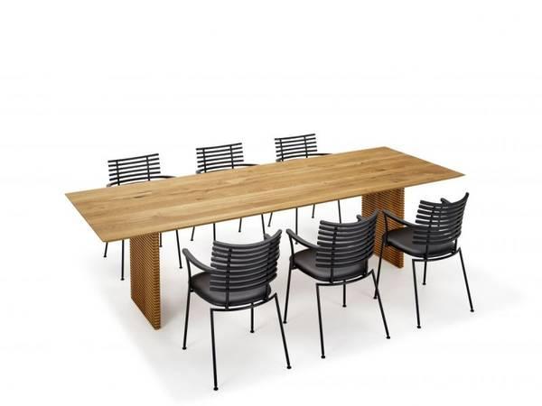 Bilde av GM 3500-21 straight spisebord vild eik